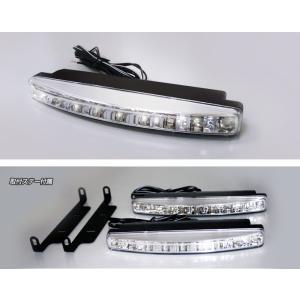 【防水】スリムボディ高輝度LEDデイライト≪ホワイト≫2灯セット|stakeholder|02