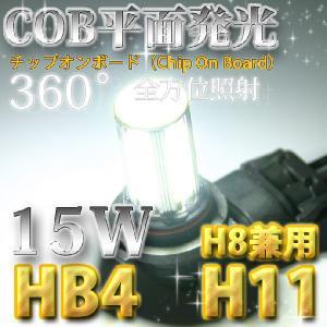 【送料無料COB平面発光LED】フォグランプ専用チップオンボード(Chip On Board)LEDバルブ/H8 H11 HB4/6000Kホワイト|stakeholder