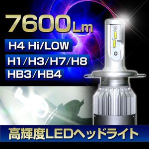 高性能フィリップスチップ搭載《7600ルーメン》【H4 Hi Low/H1/H3/H7/H8/H11/HB3/HB4】36W 6000K スリムコンパクト 高輝度LEDヘッドライト|stakeholder