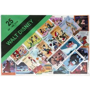 【未使用】ディズニー柄切手 25枚(重複なし)詰め合わせ|stamp-coin-ebisu