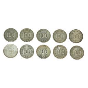 稲100円銀貨 10枚セット! 銀を1枚あたり約2.88g 10枚で約28.8g含有!将来有望! stamp-coin-ebisu