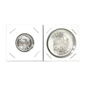 1964年(昭和39年)東京オリンピック100円銀貨1000円銀貨セット|stamp-coin-ebisu
