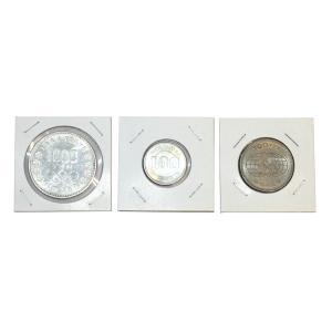東京オリンピック 東京五輪 1000円銀貨100円銀貨・大阪万博100円硬貨合計3枚セット|stamp-coin-ebisu