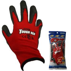 作業手袋 タフレッド 天然ゴム 1470 3双組 ナイロン ハイグリップ 通気性