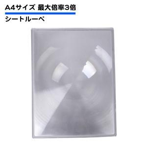 【追跡ゆうパケット送料無料】A4サイズ シートルーペ 板ルーペ シート虫眼鏡 倍率3倍 大きいルーペ