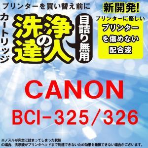 洗浄の達人  キヤノンプリンター目詰まり  BCI-326 +BCI-325 洗浄液 ヘッドクリーニングBCI-325+326/6MP|standardcolor
