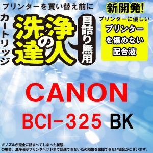 洗浄の達人  キヤノンプリンター目詰まりBCI-325PGBK ヘッドクリーニング液 洗浄液|standardcolor