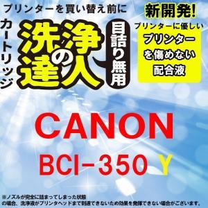 洗浄の達人  キヤノンプリンター目詰まりBCI-351XLイエロー洗浄液カートリッジ目詰まり解消 BCI351XLY|standardcolor