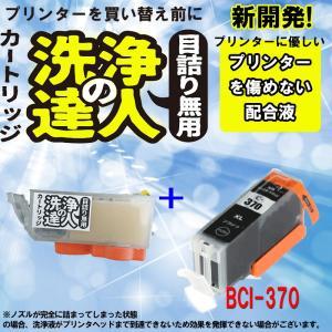 キヤノン BCI-370 BK 洗浄の達人と互換インクセット プリンター目詰まりヘッドクリーニング洗浄液|standardcolor