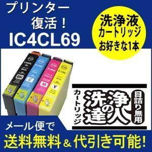 洗浄 達人 エプソン EPSON 選べる洗浄ヘッドクリーニング1本  IC4CL69 洗浄カートリッジ ic69プリンター目詰まり解消|standardcolor