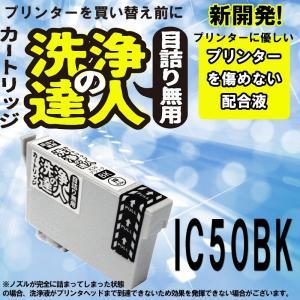 洗浄の達人  エプソンプリンター目詰まり EPSON IC50シリーズ IC6CL50  ヘッドクリーニング 洗浄液 ICBK50 黒 ブラック|standardcolor