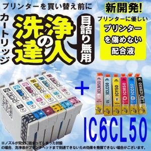 エプソン ic6cl50 ic50 洗浄の達人と互換インクセット プリンター目詰まりヘッドクリーニング洗浄液|standardcolor