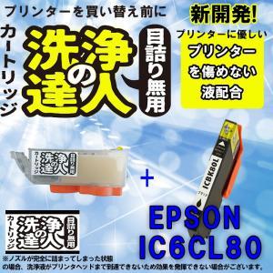 エプソン epspn ic80 BK ブラック 洗浄の達人と互換インクセット プリンター目詰まりヘッドクリーニング洗浄液|standardcolor