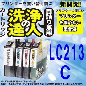洗浄の達人  ブラザー工業(Brother) LC213 プリンター目詰まり カスレ 解消 洗浄液 LC213 C シアン|standardcolor