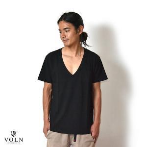 【60% OFF】VOLN / V Neck Tee / Black / POCKET|standardstore