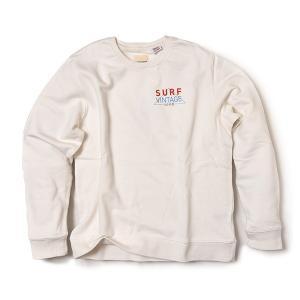 【50% OFF】VOLN/SURF VINTAGE LINE Crew Sweat / WHITE|standardstore