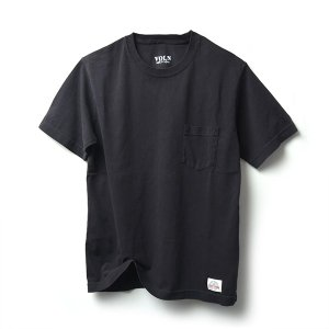 VOLN × CRAFTSMAN CREW NECK POCKET T-SHIRT(BLACK)|standardstore