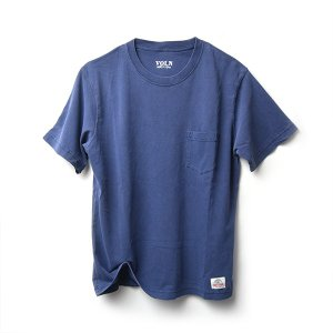 VOLN × CRAFTSMAN CREW NECK POCKET T-SHIRT(NAVY)|standardstore