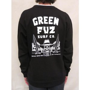 GREEN FUZ / SURFIN DEAD CREW / BLACK / SWEAT スウェット|standardstore