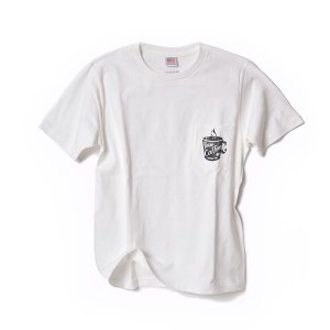 STANDARD STORE /COFFEE/T-SHIRT/Tシャツ/ポケット/WHITE|standardstore