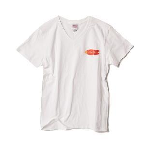 STANDARD STORE /FISH/T-SHIRT/Tシャツ/Vネック/WHITE|standardstore