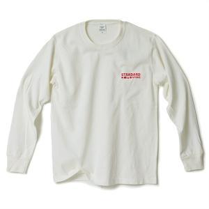 STANDARD STORE × ANDY DAVIS ORIGINAL LS T-SHIRT(LOGO)OFF WHITE|standardstore