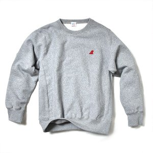 VOLN / CREW NECK SWEAT / RED FIN / HEATHER GRAY|standardstore