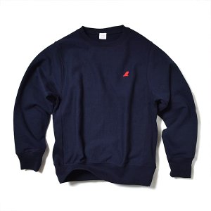 VOLN / CREW NECK SWEAT / RED FIN / NAVY|standardstore