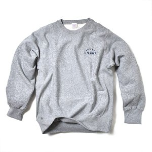 VOLN / CREW NECK SWEAT / U.S. WAVY / HEATHER GRAY|standardstore