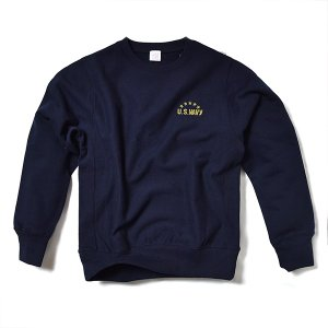 VOLN / CREW NECK SWEAT / U.S. WAVY / NAVY|standardstore