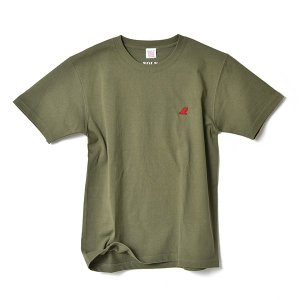 VOLN / CREW NECK T-SHIRT / RED FIN / LIGHT OLIVE|standardstore