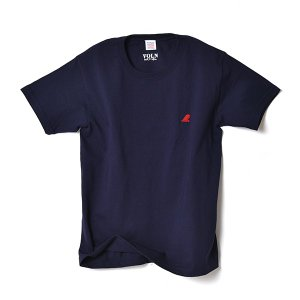VOLN / CREW NECK T-SHIRT / RED FIN / NAVY|standardstore
