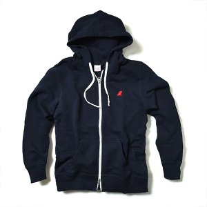 VOLN / ZIP UP PARKA / RED FIN / DEEP NAVY|standardstore