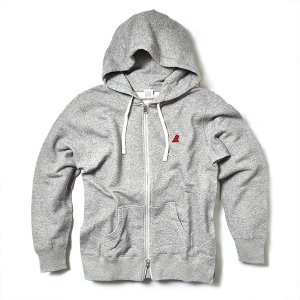 VOLN / ZIP UP PARKA / RED FIN / HEATHER GRAY|standardstore