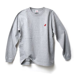 VOLN RED FIN HEAVY WEIGHT L/S T-SHIRT - GRAY|standardstore
