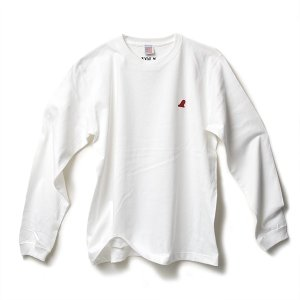 VOLN RED FIN HEAVY WEIGHT L/S T-SHIRT - WHITE|standardstore