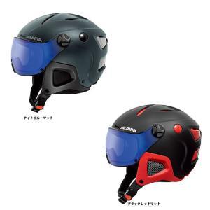 予約商品 17-18 アルピナ  ATTELAS VISOR VHM a9091  ヘルメット スキー 調光レンズ採用モデル CoolMax搭載 バイザーが一体になったヘルメット|star-custom