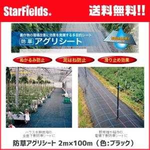 防草アグリシート 2×100m(色:ブラック)【代引き不可商品】 防草シート|star-fields