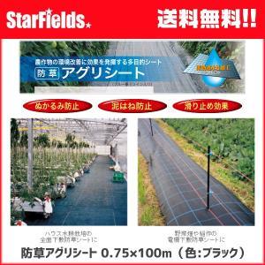 防草アグリシート 0.75×100m(色:ブラック)【代引き不可商品】 防草シート|star-fields