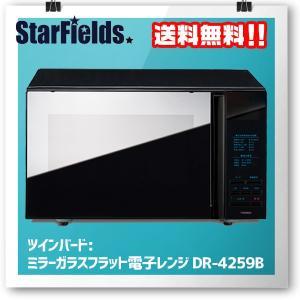 ツインバード  ミラーガラスフラット 電子レンジ DR-4259B|star-fields