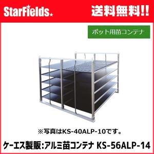 苗コンテナ ケーエス製販 ポット専用苗コンテナ KS-56ALP-14(底板付)|star-fields