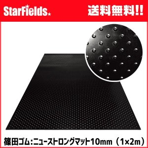 ゴムマット 篠田ゴム ニューストロングマット 10mm(1×2m)敷板 代引き不可|star-fields