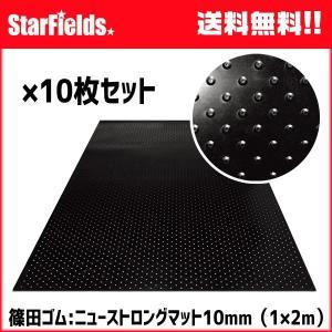 ゴムマット 篠田ゴム ニューストロングマット 10mm(1×2m)敷板 10枚 代引き不可|star-fields