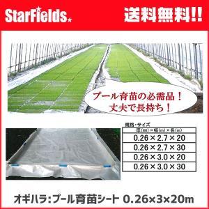 オギハラ:プール育苗シート 0.26×3×20m 【代引き不可】|star-fields