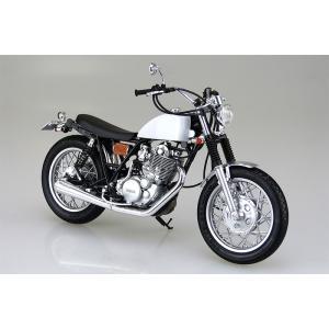 アオシマ プラモデル 1/12 バイク No11 ヤマハ SR400S カスタムパーツ付き