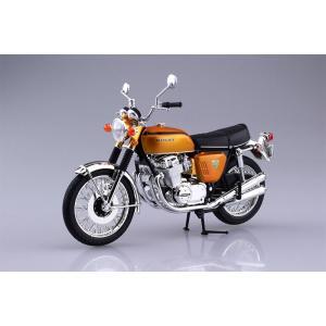 アオシマ プラモデル 1/12 完成品バイク ホンダ CB750FOUR K0 キャンディゴールド
