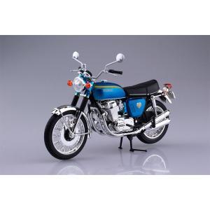 アオシマ プラモデル 1/12 完成品バイク ホンダ CB750FOUR K0 キャンディブルー