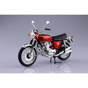 アオシマ プラモデル 1/12 完成品バイク ホンダ CB750FOUR K0 キャンディレッド