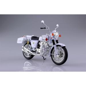 アオシマ 1/12 完成品バイク ホンダ CB750FOUR K0 白バイ