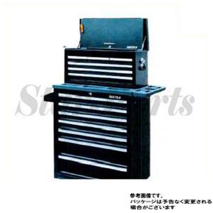 ダイイチオリジナル7段高級チェスト&ローラーキャビネット(ブラック) DK12BS 株式会社ダイイチ|star-parts